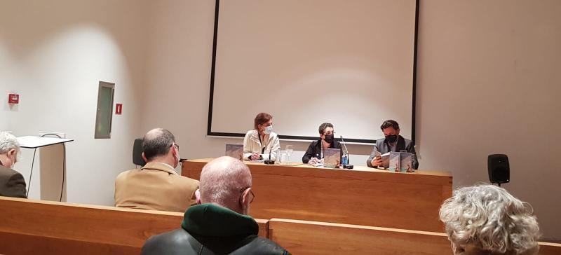 Imaxe da presentación desta tarde na sede da Fundación Luis Seoane na Coruña