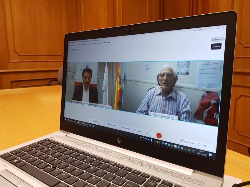 Antonio Rodríguez Miranda e Francisco Álvaro Gómez García, durante a videoconferencia