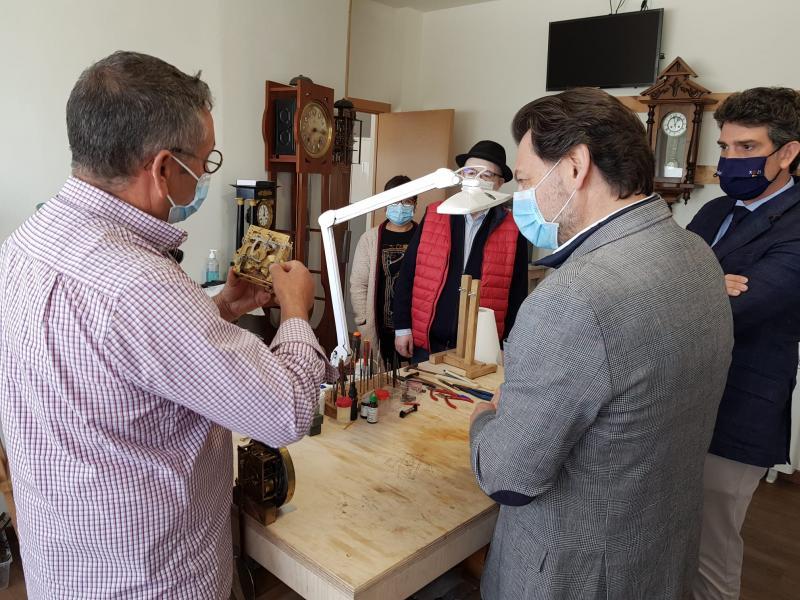 Imagen de la visita de esta mañana a Abadín (Lugo)