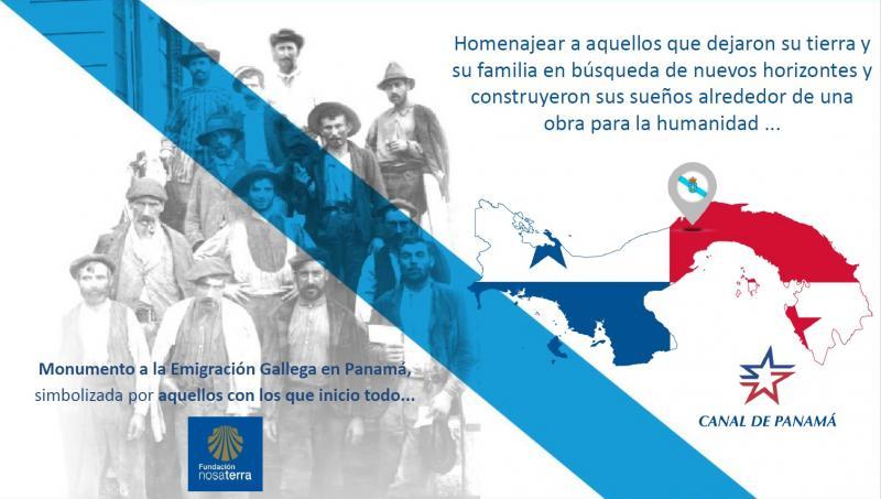 La Fundación Nosa Terra nació con el propósito de rendirle un homenaje a todos los gallegos que participaron en la construcción del Canal de Panamá en el año 1904