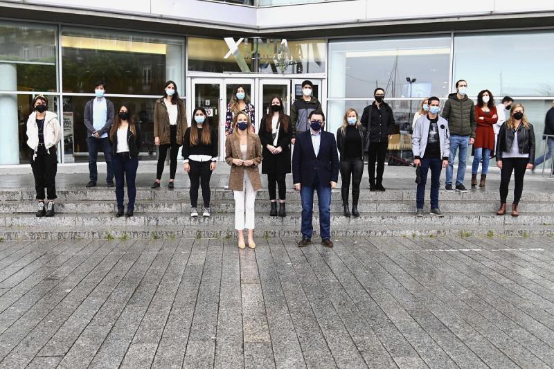 Imaxe do encontro desta mañá na sede da Delegación da Xunta na cidade olívica