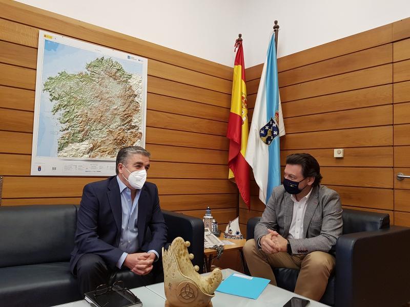 Miranda y Taboada, en la sede de la Secretaría Xeral da Emigración en la capital de Galicia