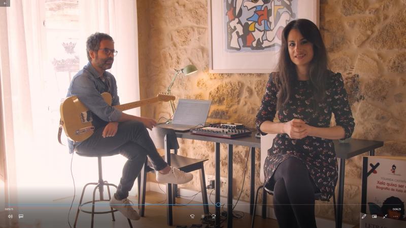 Yolanda Castaño e Isaac Garabatos