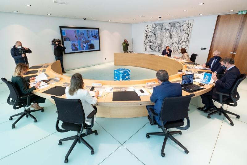Foto de arquivo do Consello da Xunta no que se aprobaron as bases das Axudas de Emerxencia Social para galegas e galegos residentes no exterior