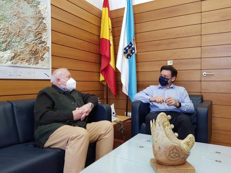 Miranda e Filgueira, durante a reunión celebrada na sede de Emigración na capital de Galicia