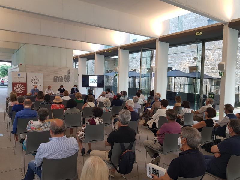Imagen de la presentación de esta tarde en Pontevedra