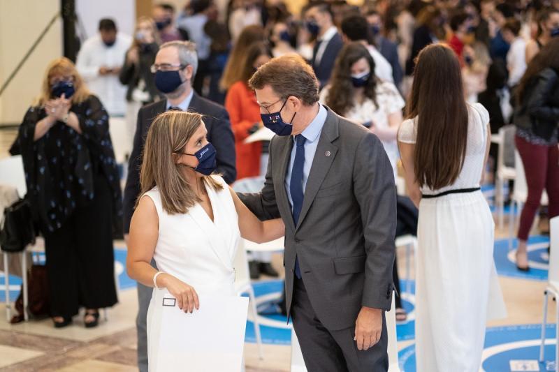 El presidente del Gobierno gallego participó en el encuentro con las y con los beneficiarios de las Becas de Excelencia Juventud Exterior (BEME)