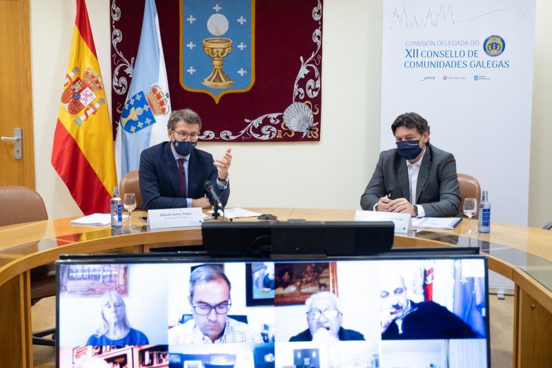 Foto de archivo de la última reunión de la Comisión Delegada del CCG en la que estuvo presente el presidente de la Xunta de Galicia