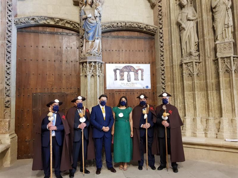Imaxe desta mañá na Porta Santa da Catedral de Santa María de Vitoria