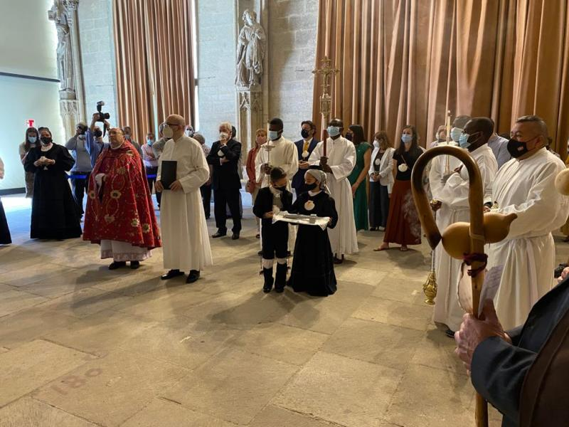Imagen de esta mañana en la Catedral de Santa María de Vitoria