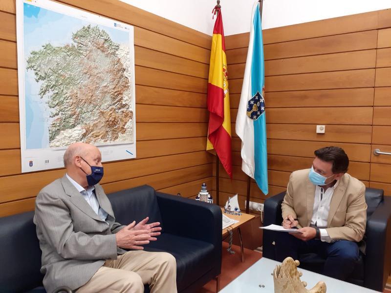 Miranda se reune con el presidente del Centro Gallego de Madrid y felicita la implicación de los gallegos con la promoción del Xacobeo 21-22 en esta Comunidad Autónoma