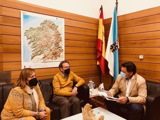 Miranda recibe al presidente de la Casa de Galicia en el Puerto de Santa María