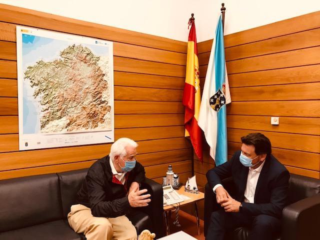 Antonio Rodríguez Miranda y José Ignacio Paz Bouza, durante la reunión en la capital de Galicia