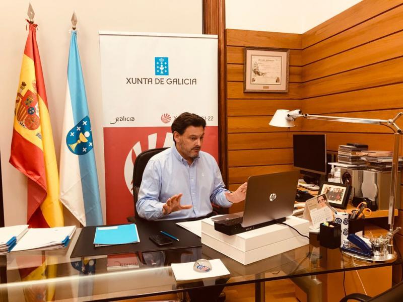 Antonio Rodríguez Miranda, durante la webinar informativa con las entidades gallegas