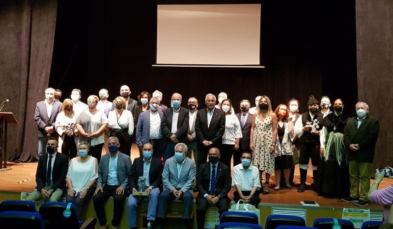 Imaxe do acto de entrega dos premios 'Alecrín 2021' celebrado este mediodía en Lalín