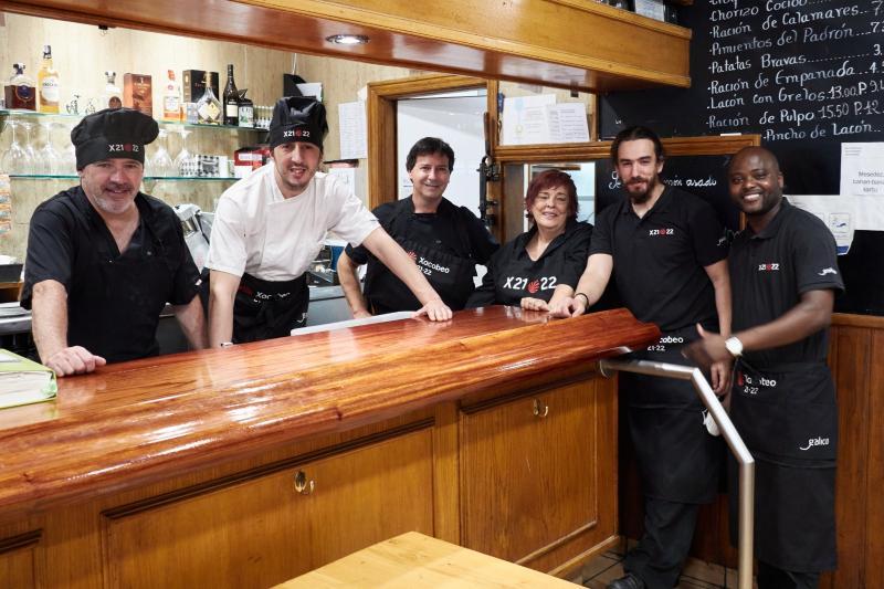 Imaxe do restaurante da Casa de Galicia na capital guipuscoana