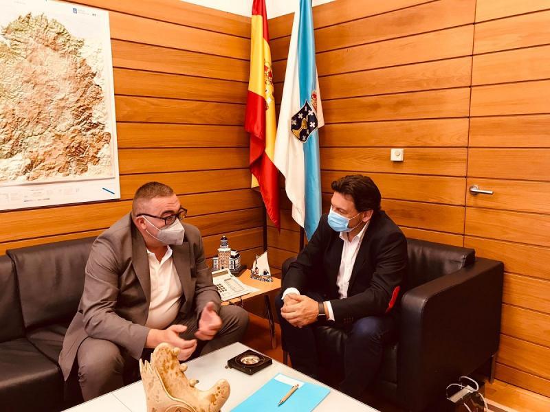 Miranda e Penedo, no despacho do secretario xeral da Emigración