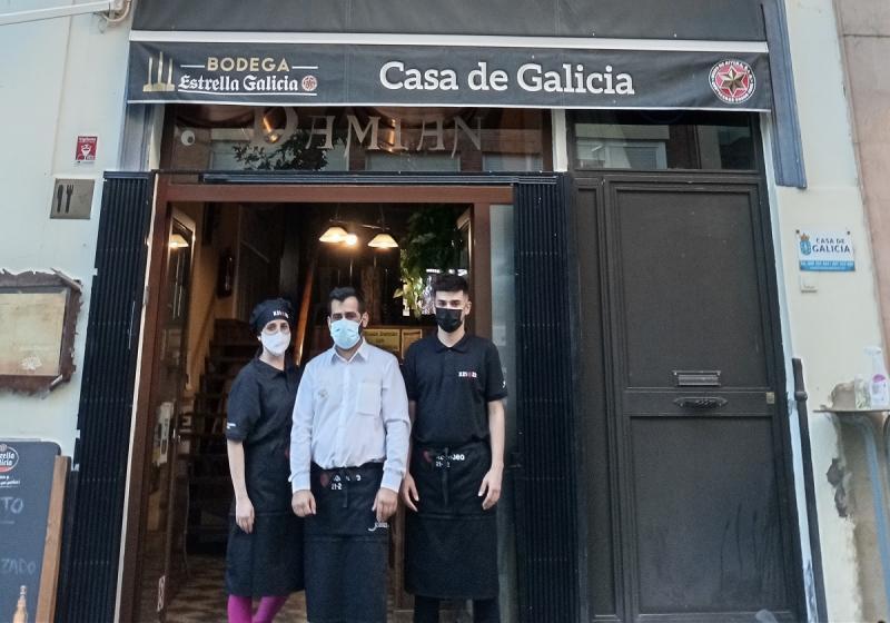 Imagen del restaurante de la Casa de Galicia de Badajoz