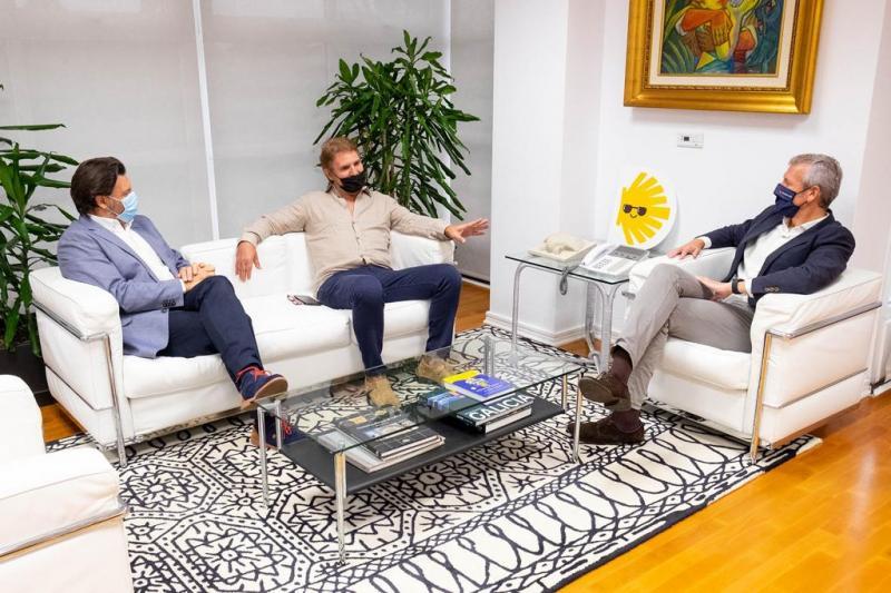 Rueda, Miranda y Brandariz, durante la reunión celebrada en la capital de Galicia