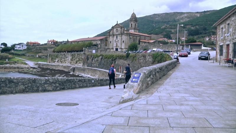 Camino Portugués por la Costa a su paso por Oia