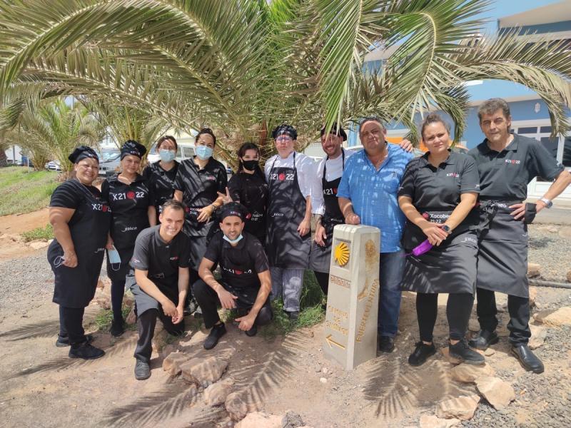 Imagen del personal del restaurante de la Casa de Galicia de Fuerteventura
