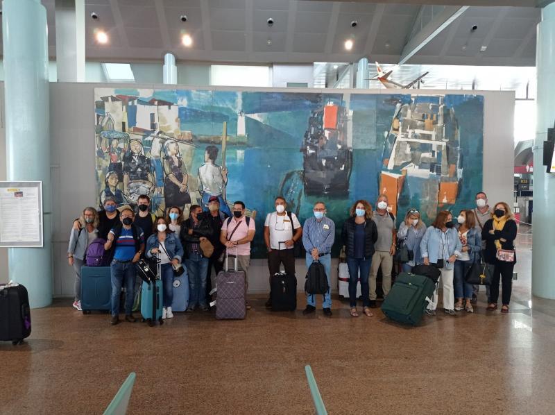 Imaxe desta tarde no aeroporto de Vigo