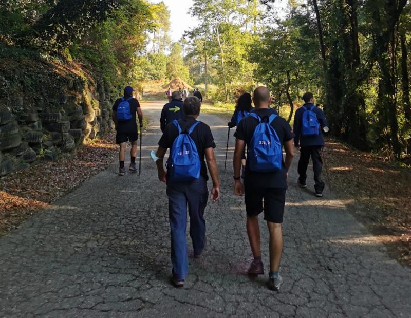 Imaxe das e dos participantes que están a percorrer o Camiño Portugués