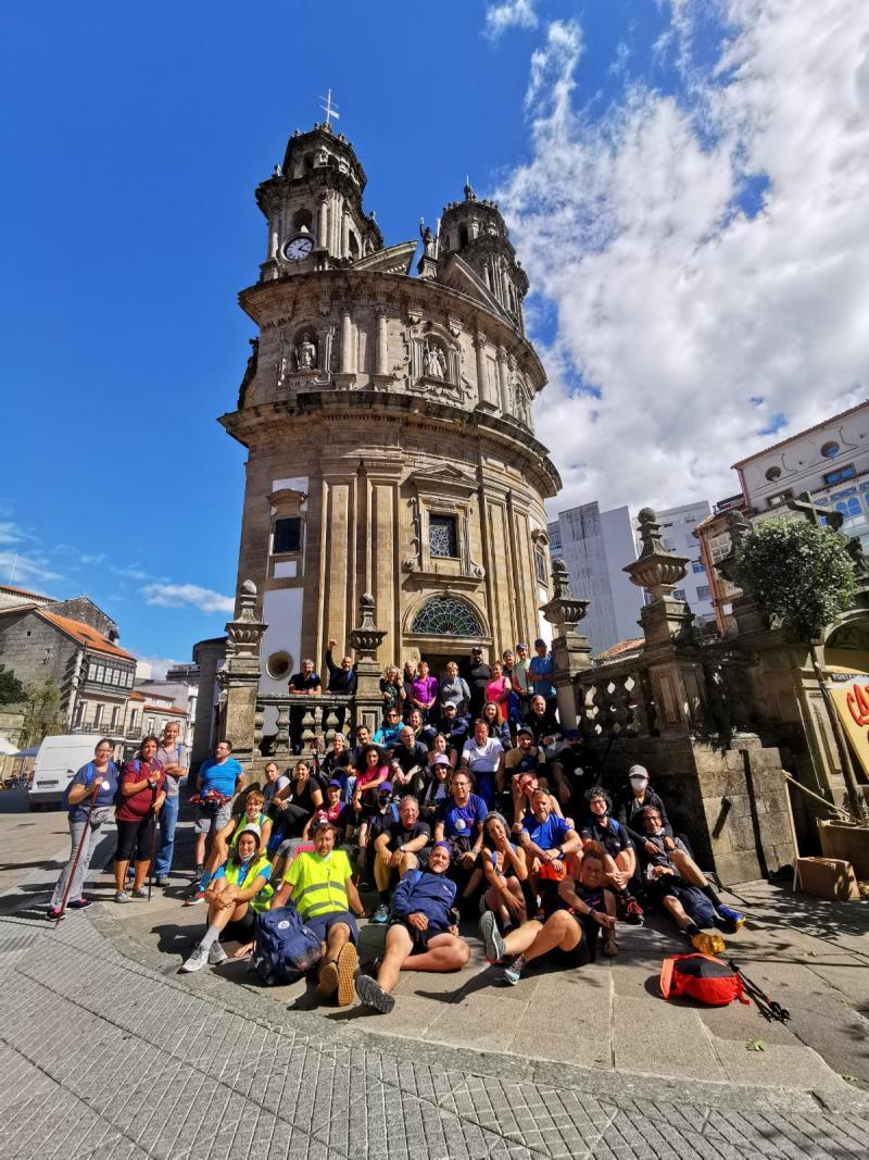 Imagen de las y los participantes que están recorriendo el Camino Portugués