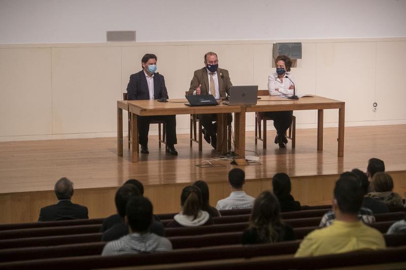 Imaxe do acto celebrado esta mañá na Facultade de Ciencias da Comunicación da Universidade de Santiago de Compostela