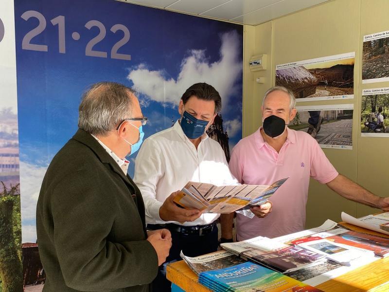 Imagen de esta mañana en el stand del Xacobeo en el XII Encuentro de Casas Regionales y Provinciales