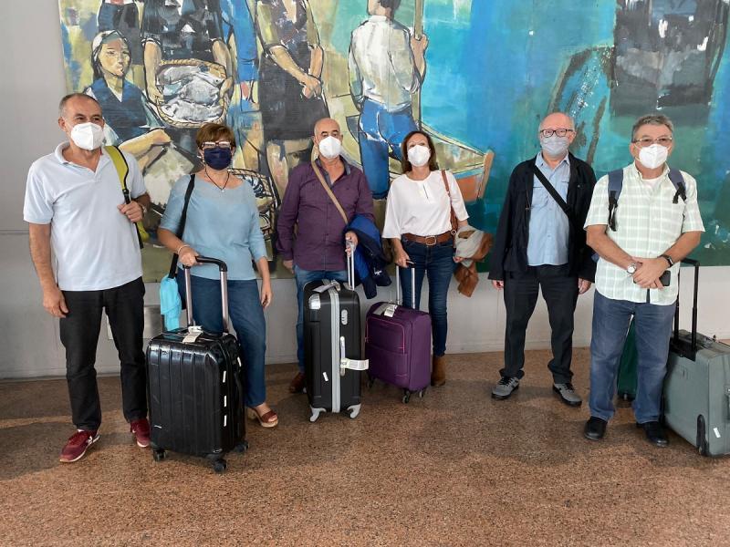 Imaxe desta tarde no aeroporto de Santiago de Compostela