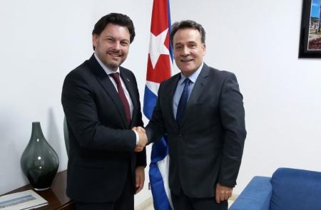 Miranda reúnese co embaixador de Cuba en España para dar continuidade á relación entre Galicia e o país centroamericano
