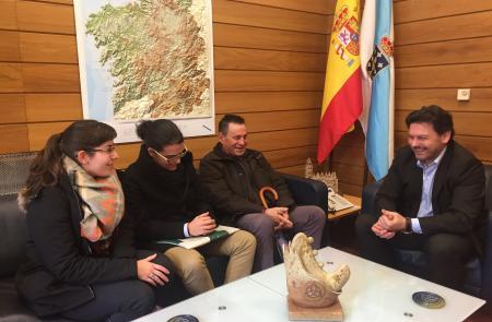 Miranda muestra su apoyo a la nueva etapa que acaba de iniciar la Asociación Galega en Suiza Rosalía de Castro de Berna