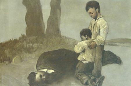 El cuadro de Castelao 'A derradeira leición do mestre' viajará por primera vez a Galicia