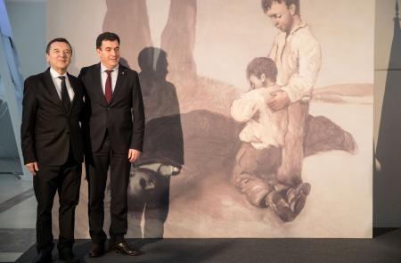 A Xunta asina un acordo para expor por vez primeira en Galicia a 'Derradeira leición do mestre' de Castelao