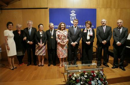 Feijóo destaca las Medallas del Consello da Cultura Galega como la prueba de que los gallegos y las gallegas somos un pueblo y una cultura que dan a mano, que acercan, y sin miedo al futuro