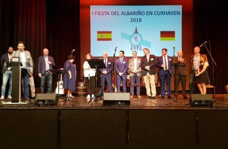 Miranda señala la primera Fiesta del Albariño de Cuxhaven como muestra del papel fundamental que juegan los gallegos del exterior en la proyección de Galicia fuera de nuestras fronteras