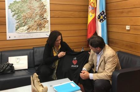 Miranda intensifica el contacto con la colectividad gallega en el Brasil para garantizar su atención social