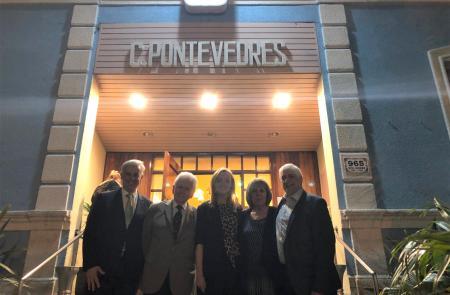 Fabiola García participa na celebración de fin de ano do Centro Pontevedrés de Montevideo