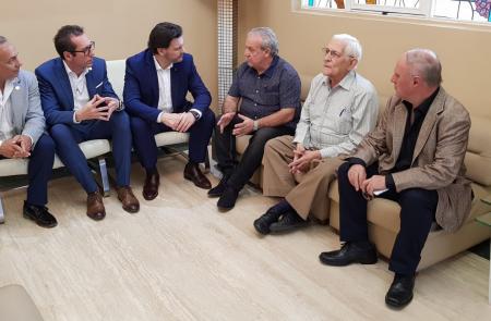 Miranda reúnese cos presidentes das entidades galegas de Venezuela para concretar o plan de traballo conxunto que permite atender ás galegas e aos galegos do país