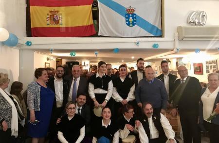 Miranda invita a los centros gallegos de Europa a intensificar su actividad para fortalecerse durante celebración de los 40 años del Centro Gallego de Marsella