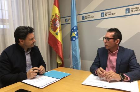 Miranda traslada a las y los gallegos de Venezuela el apoyo permanente de la Galicia territorial a través del presidente de la Hermandad Gallega de Caracas