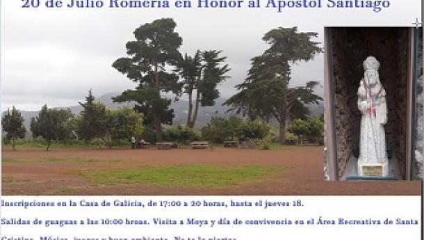 Romería del Apóstol Santiago 2019 de la Casa de Galicia de Las Palmas