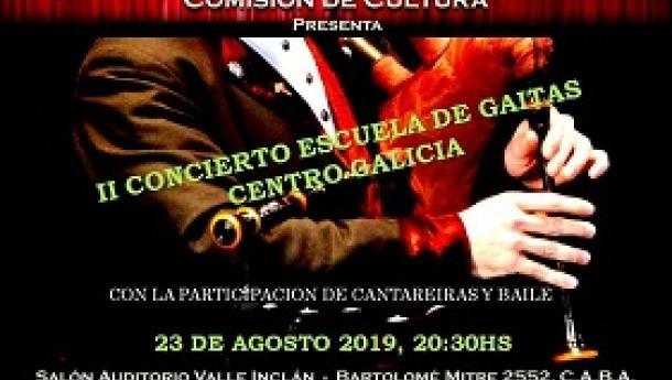 II Concierto de la Escuela de Gaitas del Centro Galicia de Buenos Aires