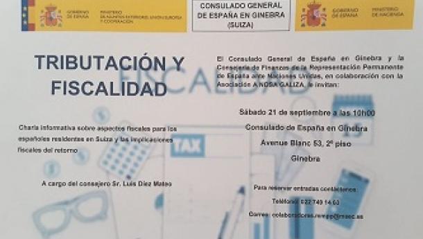 Charla informativa 'Tributación y fiscalidad', en Xenebra