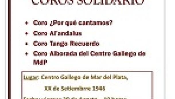 Encontro de coros solidario a beneficio de La Noche de la Caridad, en el Centro Gallego de Mar del Plata