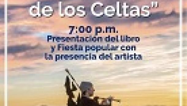 Presentación do libro 'La Hermandad de los Celtas', de Carlos Núñez, en Lima