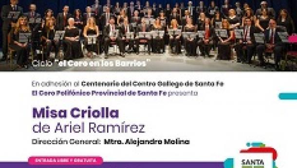 """Concerto """"Misa criolla de Ariel Ramírez"""", en Santa Fe"""