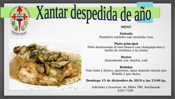 Xantar-despedida del 2019, en el Centro Gallego de Avellaneda