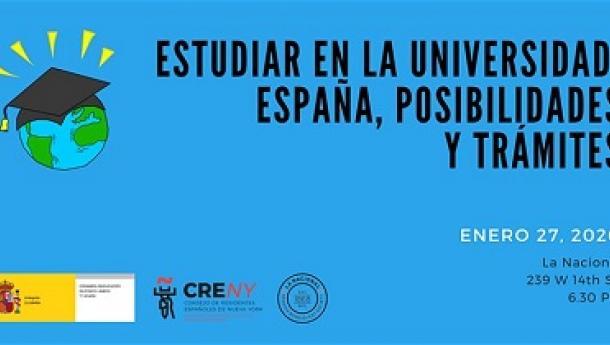 Sesión informativa 'Estudiar en la universidad: España, posibilidades y trámites', en Nova York